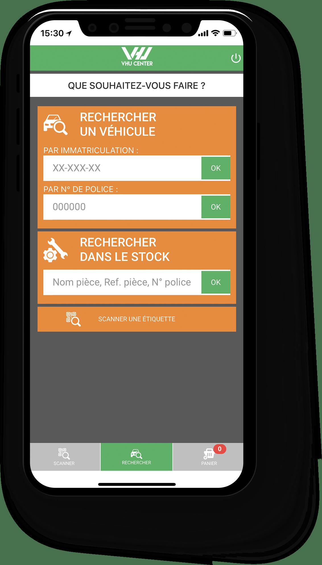 VHU CENTER application mobile